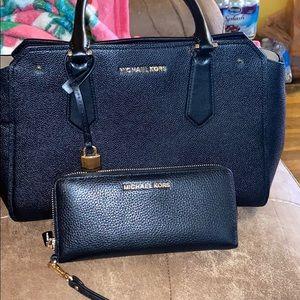 Michel Kors handbag and matching wallet